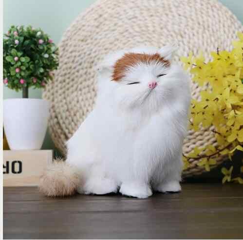 WYZHY настоящий кроличий мех имитация толстый кот изготовлен из высокого качества ручной работы 16 см x 12 см x 16 см