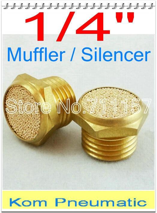 100x Free Shipping Pneumatic 14 Inch Brass Exhaust Silencer Muffler , Air Valve Cylinder Noise Filter Reducer BSLM-02