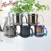 Multi color Portable Stainless Steel Vietnam Coffee Dripper Filter Coffee Maker High Quality Drip Coffee Filter Pot Filters Tool