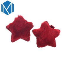M MISM 1 Pair Hot Sale Solid Star Shape Hairpins Women Girls Headwear Colorful Soft Hairy Hair Clip Accessories