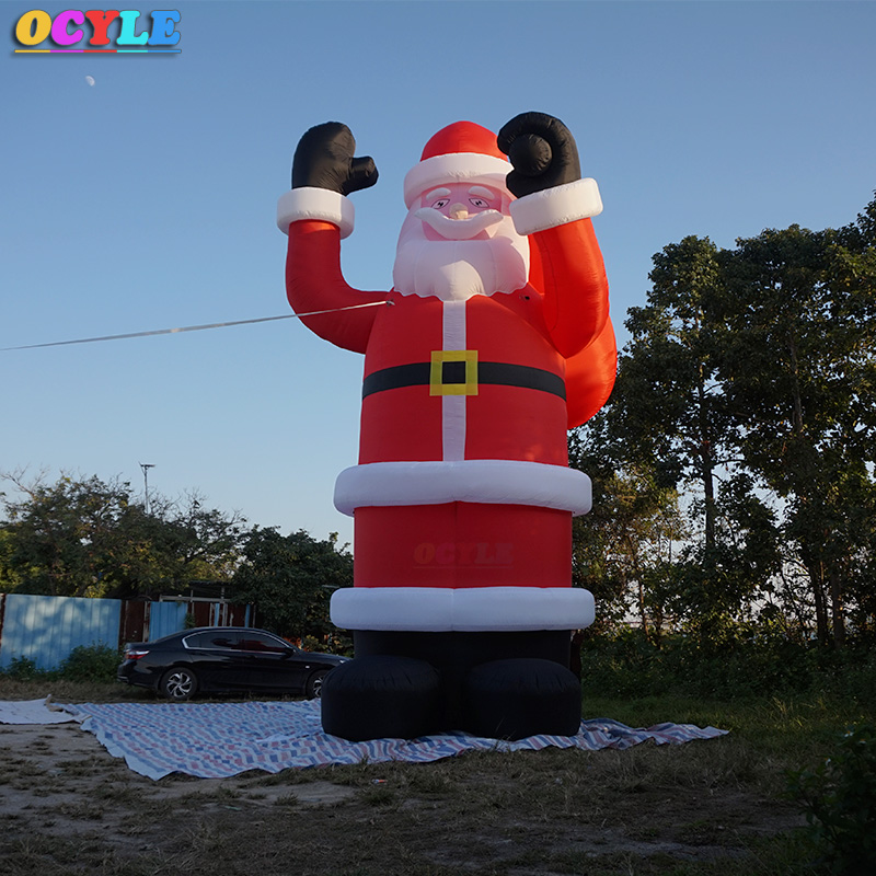 OCYLE2020 NEW Huge Commercial Airblown 30ft Giant Inflatable Santa Claus Xma Party Decoration + 1 CE/UL Blower + Repair Kids