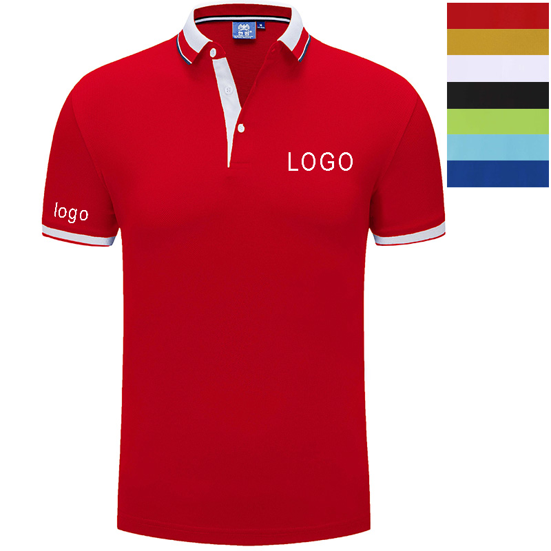 Men's Custom Embroidered Regular-Fit   Polo   Shirt Personalised Text Logo Workwear Tshirt,left chest pocket
