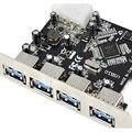 YOC-FAST Express Tarjeta de Expansión USB 3.0 PCI-E PCI EXPRESS de 4 PUERTOS Adaptador