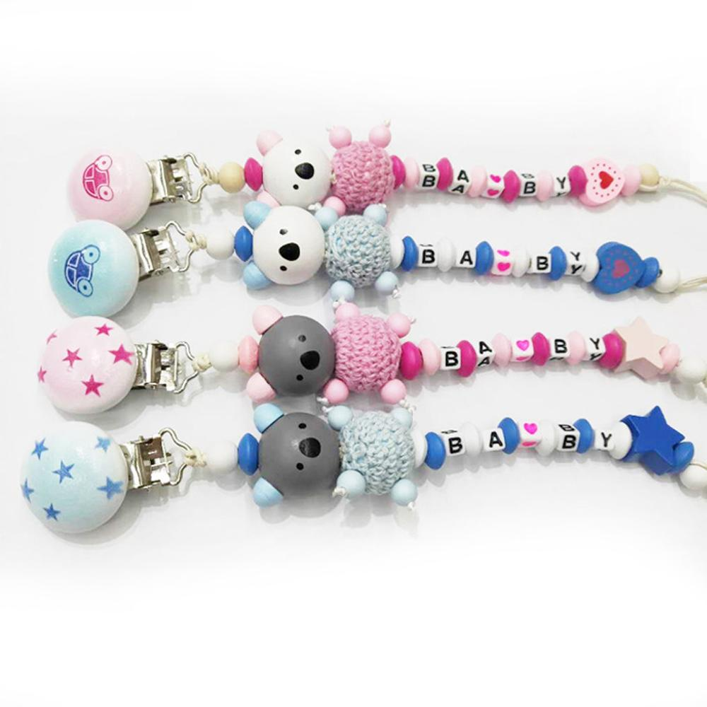 Non-toxic Chew Toy Pacifiers Chain Pacifier Clip Soother Beaded Nipple Feeding