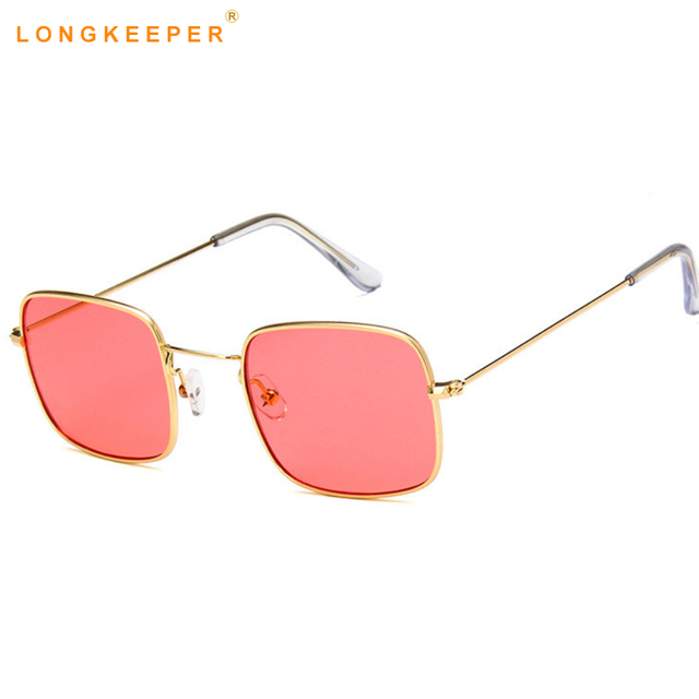 c4910de7477a 2018 Small Square Frame Vintage Sunglasses Women Retro Brand Design Grey  Blue Yellow Red Tinted Men Sunglasses Gafas LongKeeper