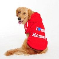 أحب ماما بابا xxxl ابرادور الكلب الملابس كبيرة كبيرة الأزياء جاكيتات معطف الشتاء الخريف الخريف هوديي الحيوانات الأليفة القط للحيوان المنتجات