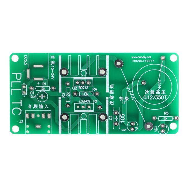 Kits 15W Tesla Mini Coil Plasma Speaker DC 15-24V Wireless Transmitter Generator T15 Drop ship