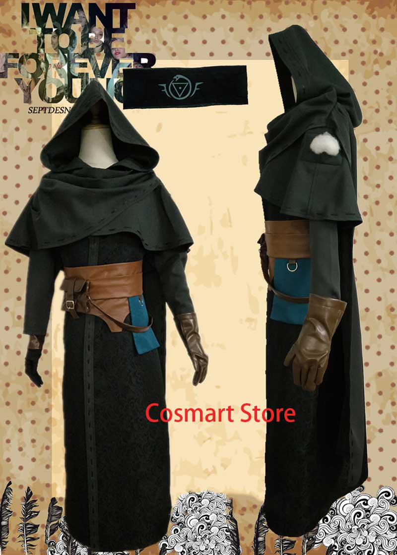 [Customized] Identity V Diviner Prophet Cosplay Costume Cloak with Cap Striped Full Sets Costume for women men Free shipping