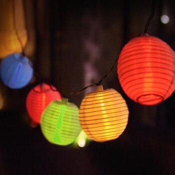 Led 태양 램프/문자열 조명 태양 전원 된 요정 빛 장식 랜 턴 조명 홈 정원 야외 방수