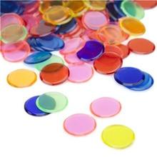 Обучающие Развивающие игрушки Монтессори 100 шт. Обучающие формы и цвета Пластиковые монеты бинго чип Детские когнитивные цвета