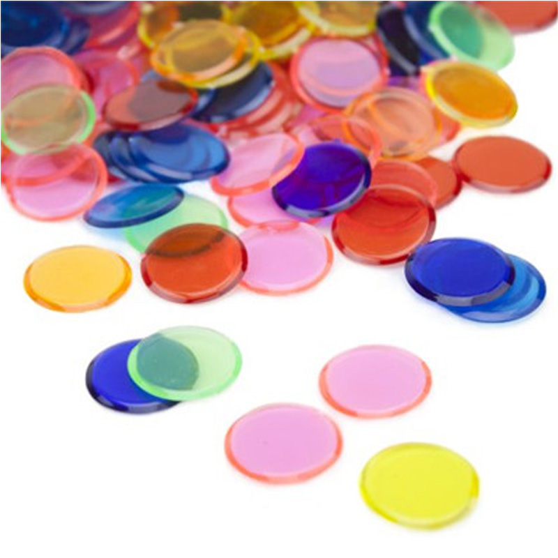 Learning Education Toys Montessori 100pcs Learning Shape And Color Plastic Coin Bingo Chip Children Baby Cognitive Color