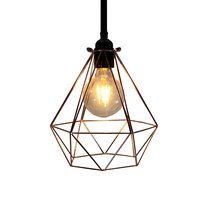 SUNLI HOUSE Pendant Lamp Iron Pendant Light Electroplated Gold Ceiling Lamp Plated Red Copper Baked Black
