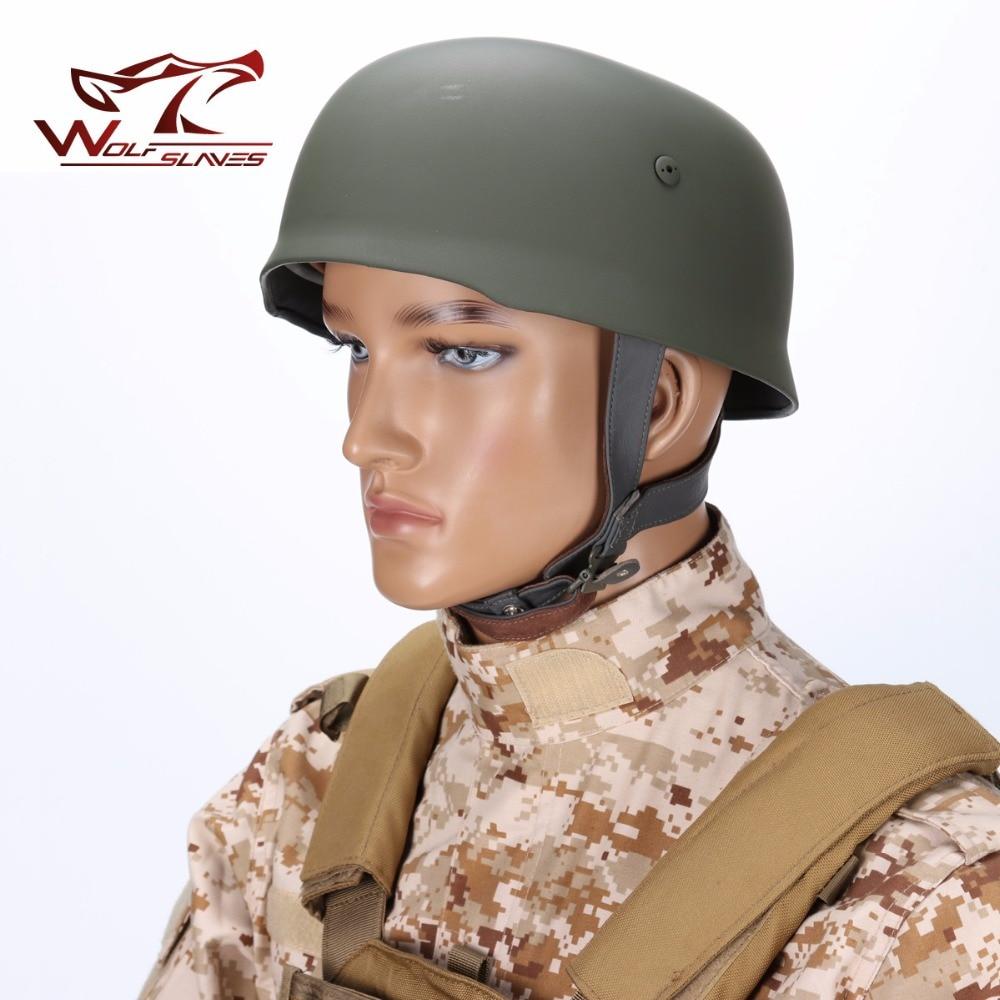 M38 Helmet World War 2 German Half-covered Steel Helmet With Leather Liner Grey Paratrooper Helmet For Outdoor Hunting motorcycle helmet world war ii german m38 wwii protective helmet paratrooper helmet