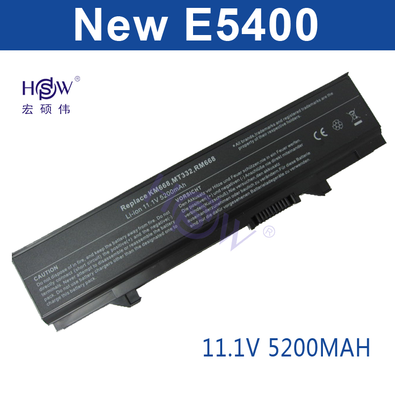HSW Laptop Battery For dell Latitude E5400 E5410 E5500 E5510 312-0762 312-0769 451-10616 KM742 KM769 0RM668 312-0902 451-10617 high capcity 12 cells laptop battery for dell for inspiron 1100 1150 5100 5150 5160 for latitude 100l 312 0079 451 10183 u1223