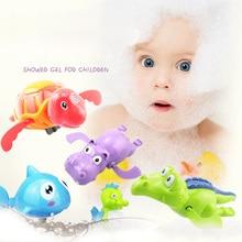 6PCS Barndusch Simbassäng Leksaker Badleksaker Ljuvlig för nyfödd litet barn Classic Water Clockwork Dabbling Baby Wind Up Leksaker