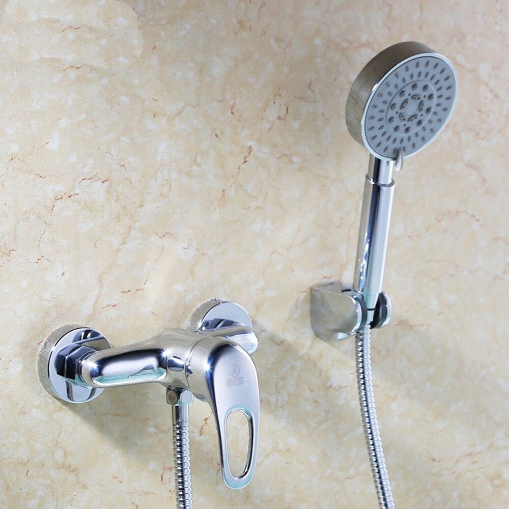 Salle de bain douche ensemble de douche cuivre complet eau chaude et froide mitigeur robinet douche mur siège tuyau wx6041802