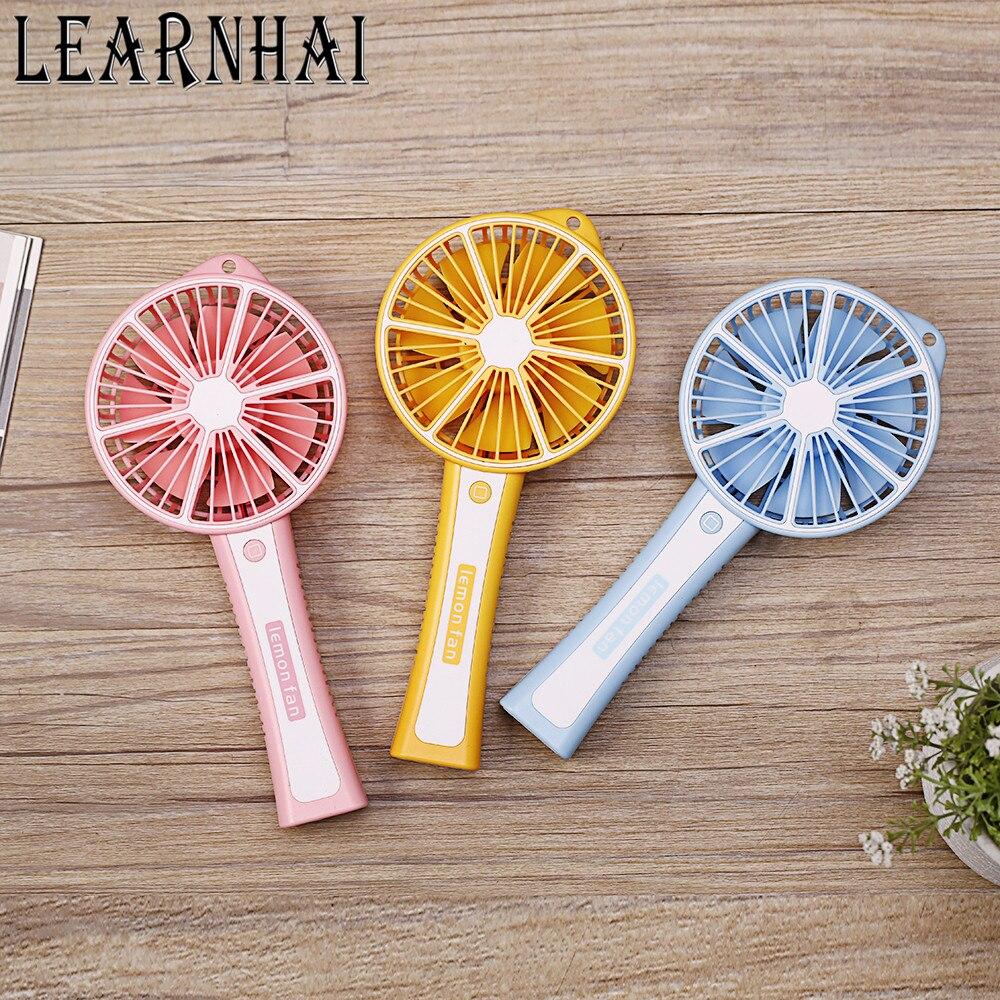 Verantwortlich Learnhai Geschwindigkeit Einstellbar Akku Elektrische Handheld Usb Tasche Zitrone Mini Tragbare Fan Mit Telefon Lade Funktion
