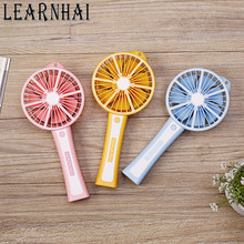 LEARNHAI Speed Adjustable Rechargeable Battery Electric Handheld USB Pocket Lemon Mini Portable Fan With Phone Charging Function
