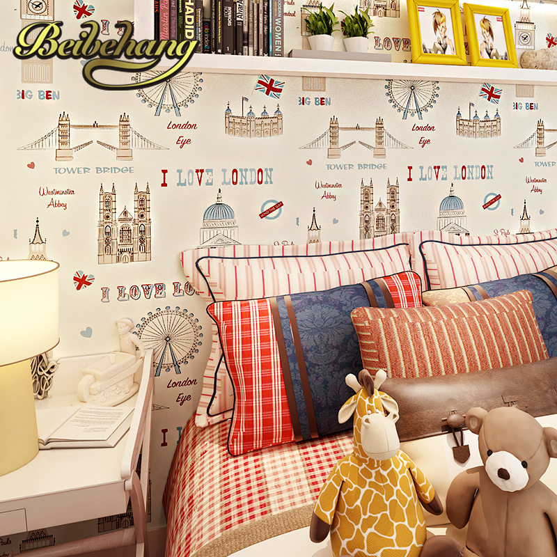 beibehang wall paper. Pune British children's room girl room Ferris wheel import pure paper wallpaper backdrop bedroom bedside free shipping british children room pure paper wallpaper star vertical stripes male girl bedroom bedside study wallpaper