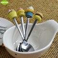 1pcs Cupcakes Salad Dessert Food Eating Spoon Cute Style Korean Stainless Steel Spoon Tableware Cutlery Creative Children Spoon