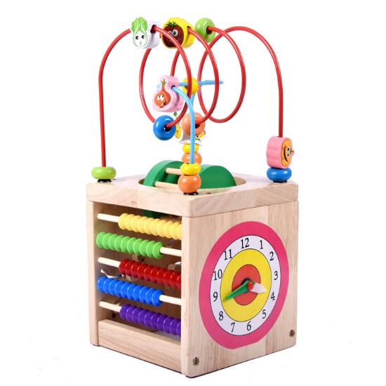WYNLZQ garçons filles jouets en bois cercles en bois perle fil labyrinthe rouleau éducatif bois Puzzles enfant jouet cadeaux de noël enfants nouveau - 2