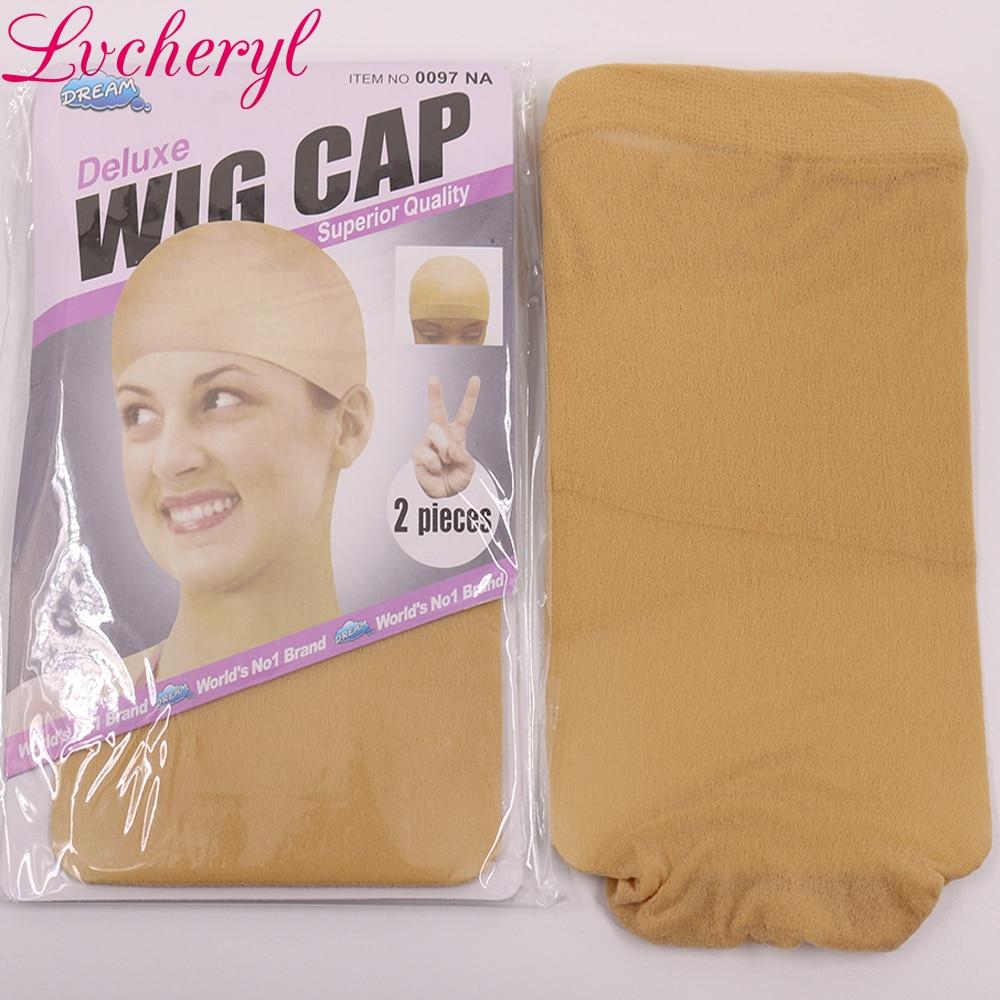 Lvcheryl Handbundet Ombre Brun Till Blond Färg Lång Rak Typ - Syntetiskt hår - Foto 6