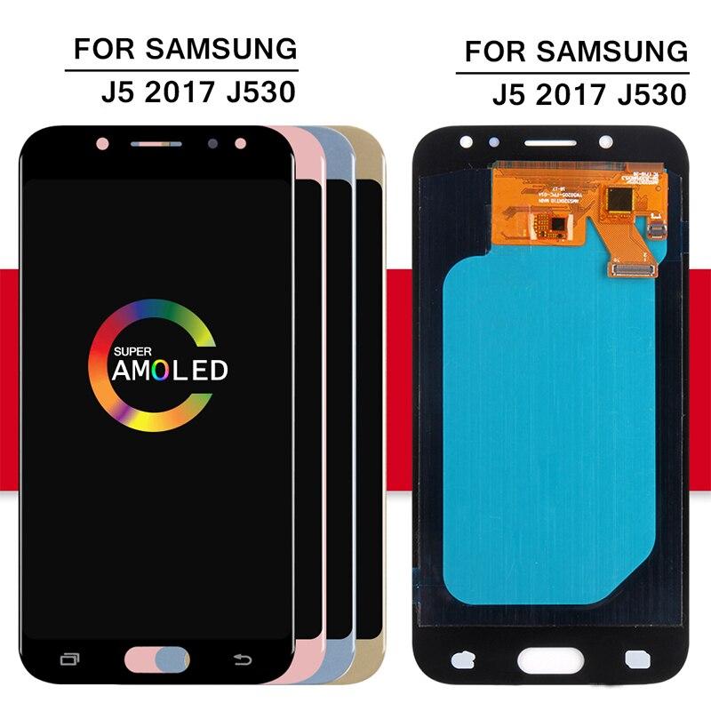 Super Amoled LCD pour Samsung Galaxy J5 2017 J530 J530F LCD écran tactile numériseur assemblée remplacement pour J5 Pro 2017 - 2