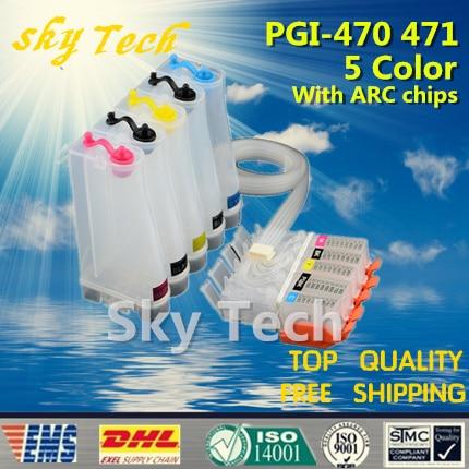 5 Color Empty CISS For PGI470 CLI471 PGI 470 CLI 471 CISS For canon PIXMA MG5740