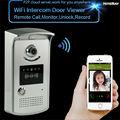 Free shipping video peephole door phone wireless intercom ip camera door monitor smart doorbell viewer home video intercom