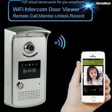 Envío libre teléfono de la puerta del peephole de vídeo de intercomunicación inalámbrica cámara ip monitor de la puerta espectador video casero de intercomunicación timbre inteligente