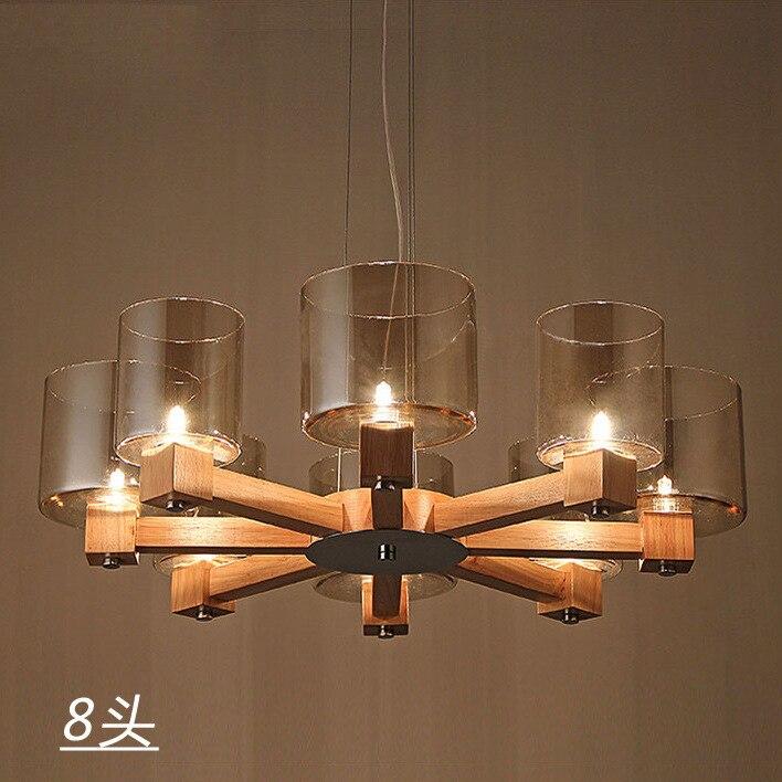 cabezas de la vendimia loft luces colgantes de madera de estilo chino colgante de cuerda