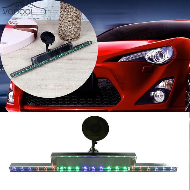 Suction Cup Mount Solar Battery Powered Car Anti Rear End Led Light