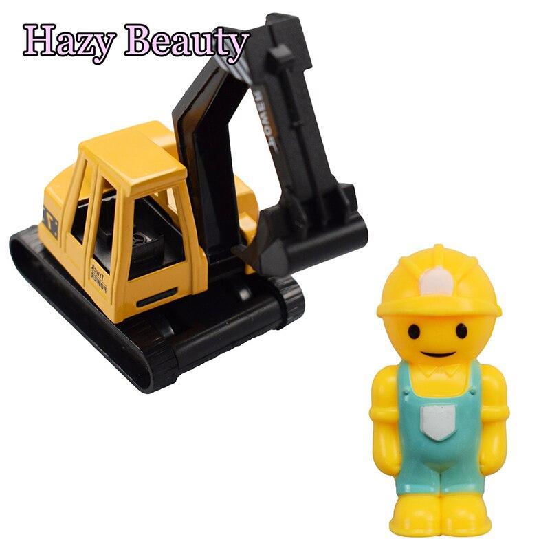 1 Stks/set Bouw Voertuig Pull Back Graafmachine Model Diecast Delicate Speelgoed Transportvoertuig Voor Kinderen Gift Jongen Speelgoed Opruimingsprijs