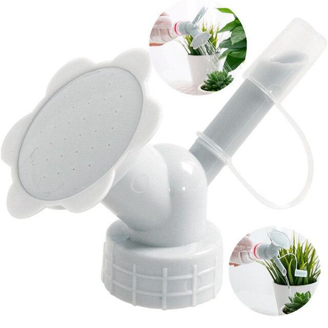 2 em 1 Bico de Irrigação Por Aspersão de Plástico para Lata Molhando Da Flor Garrafa Latas de Rega Por Aspersão Chuveiro Cabeça Ferramenta de Jardim