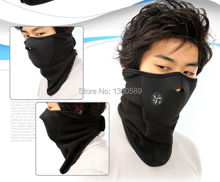 Thermal Neck Warmers Fleece Balaclavas Hat Headgear Winter Ear Windproof Face Mask Motorcycle Bicycle Scarf seek thermal