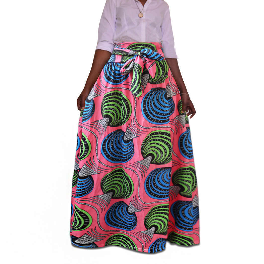 b9810d618e ... Plus Size Africa Clothing 5XL Indonesia Ankara Indian African Pattern  Print Skirt For Women Fashion Bandage