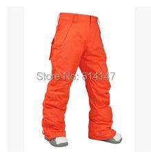 free shipping 2014 new arrival men's ski pants windproof waterproof warm ski pants ski wear men Snowboard Pants