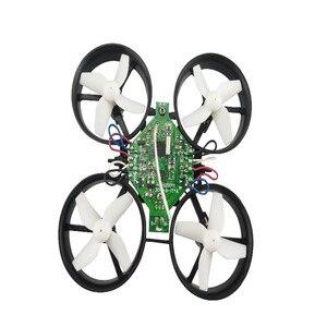 Image 2 - Bricolage Min Drone RC télécommande hélicoptère une clé retour sans tête quadrirotor hélice moteur batterie récepteur conseil accessoires