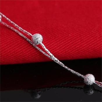 Jiayiqi 2017 Hot Sale Silver color Fashion Bracelet Bead Bracelets for Women Silver color Friendship Bracelets Fine Jewelry 1