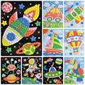 Nuevo 24 Estilos 3D Mosaicos Etiqueta Engomada Creativa Animales de Caza de Transporte Artes Artesanales EVA Rompecabezas Juegos Educativos para Niños MSK001