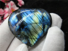 High Quality Natural Blue Light Labradorite Stone Heart Shape Mineral Crystal Specimen Feng Shui Home Decoration Collection