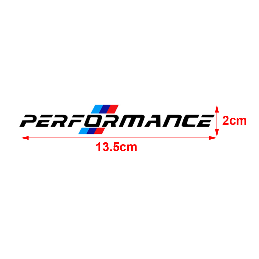 Anteke 4pcs Latest M Performance Logo Side Door Handle Sticker For