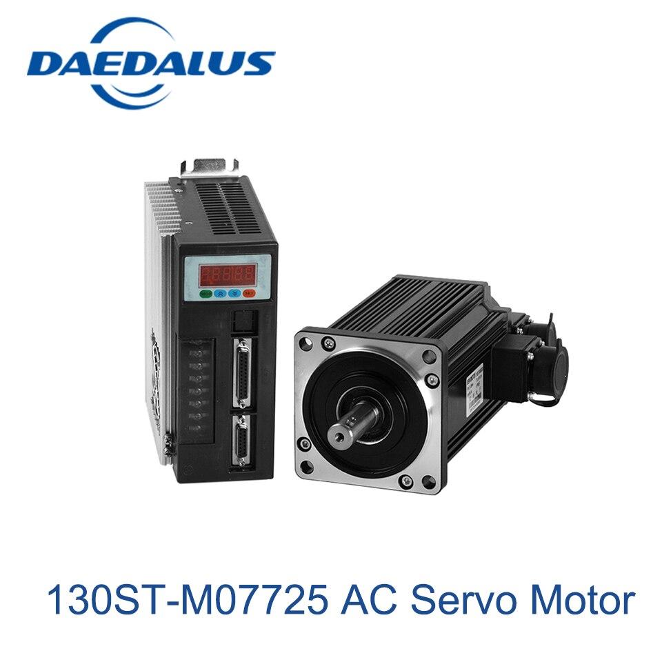 купить 130ST-M07725 AC Servo Motor 7.7N.M 2.0KW ac motor 220v &Driver 2500rpm 3 phase electric motor servo motor недорого