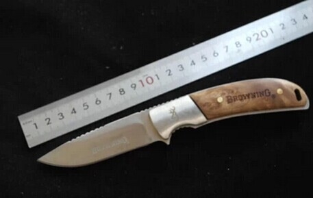 Browning font b Tactical b font Hunting font b Knife b font Fixed Blade Stainless Steel