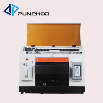 punehod flatbed uv printer a3 size 6 colors 5760*1440dpi Separate ink cartridge t shirt clothes printing machine