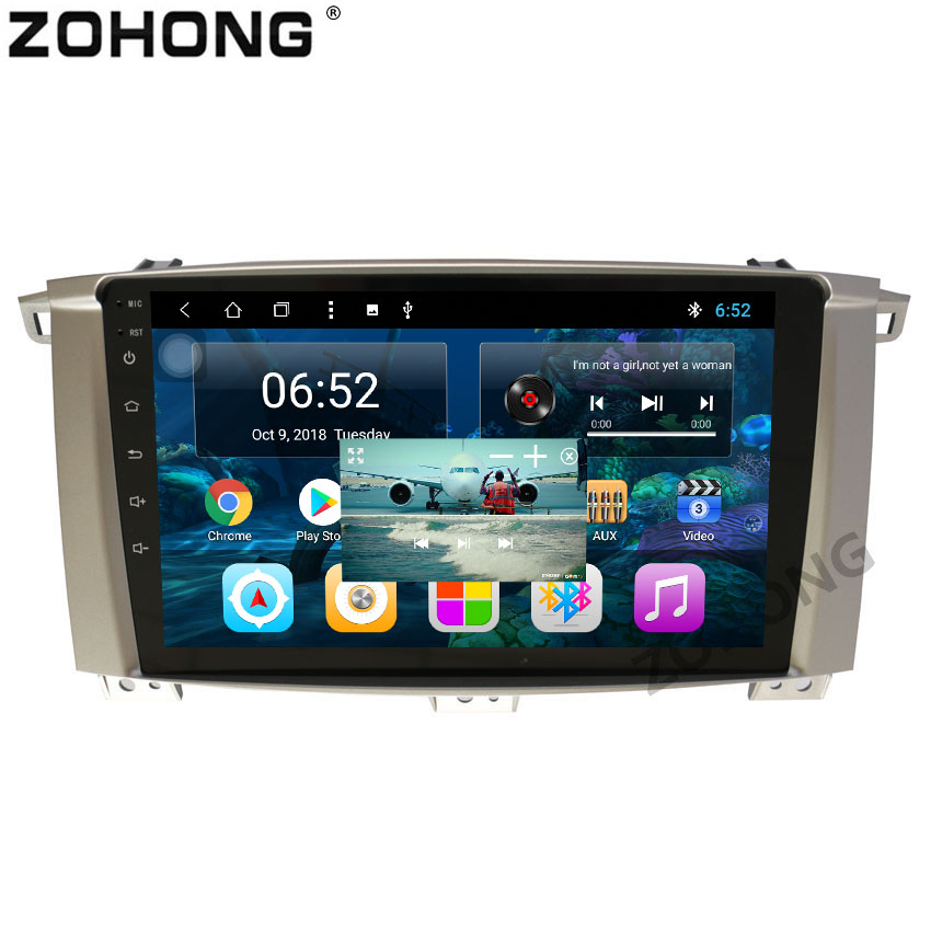1 din 2 5D 9inch Octa 8 Core Android 8 1 Car gps for Toyota Land