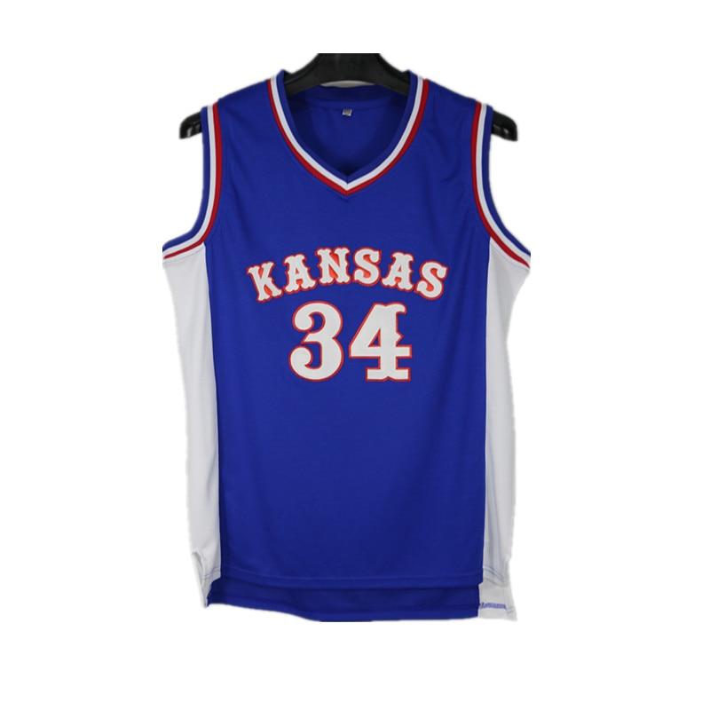 hot sales 97901 e0780 US $22.09 |Paul Pierce Jersey #34 Kansas Jayhawks KU College Throwback  Basketball Jerseys Retro Shirts For Men Hotsale-in Basketball Jerseys from  ...
