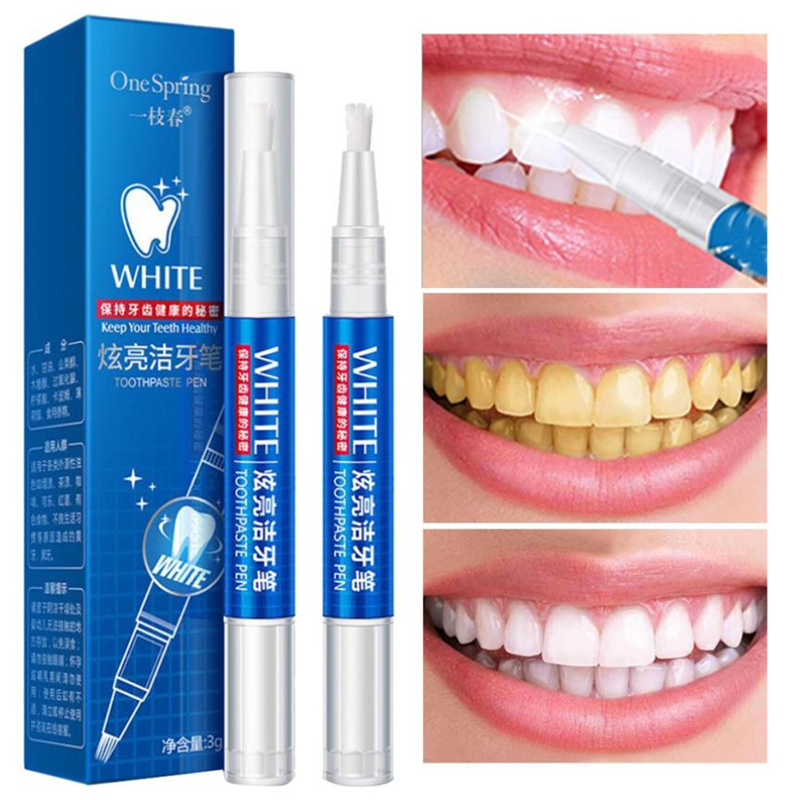 3G Teeth Whitening Gel Pen Quick Remove Stain Yellow Teeth Whitening White Pen Teeth Whitening Blanqueador Dental