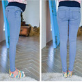 2016 nova primavera da marca e as mulheres grávidas leggings maternidade calças de brim de cor Luz do verão simples lápis calças