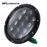 MALUOKASA 1 Pair 7 Inch 75W LED Headlight H4 H13 DRL Hi Lo Beam For JEEP